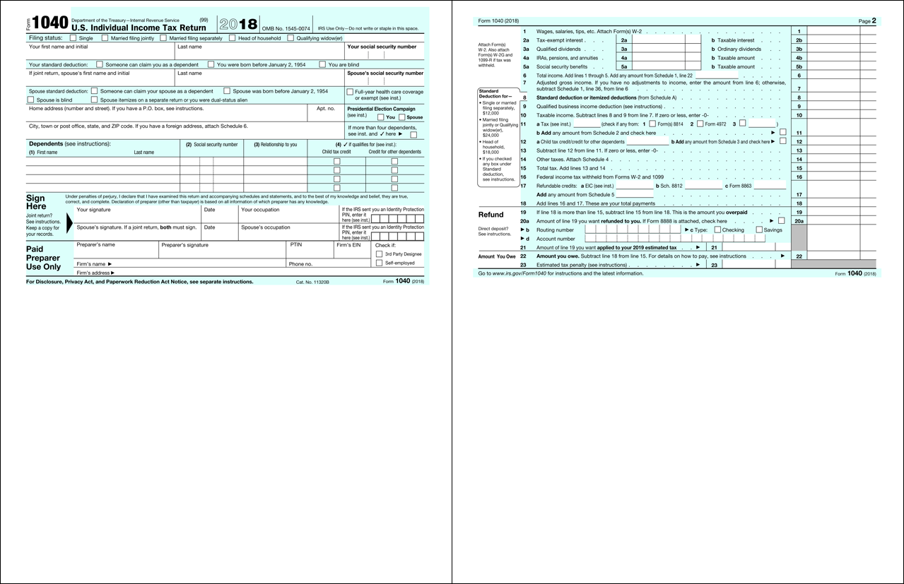 2018 Form 1040 Page 2 >> New Postcard Tax Form For 2018 Is It Really Simpler And